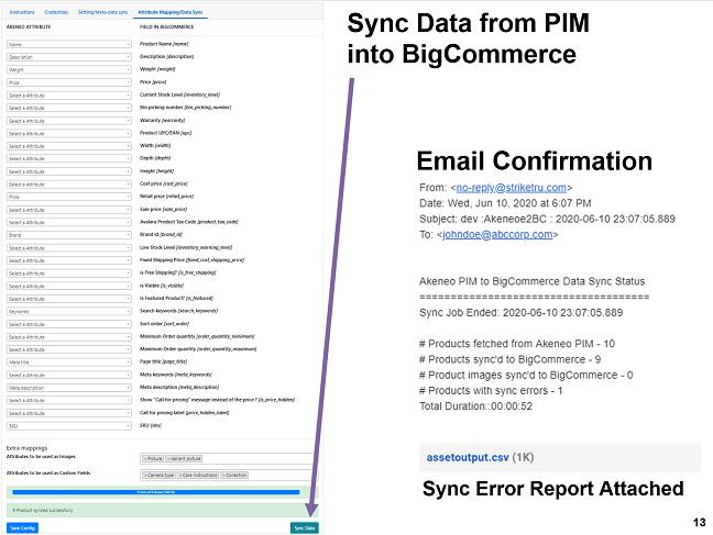 Sync data from Akeneo PIM to Bigcommerce - Striketru
