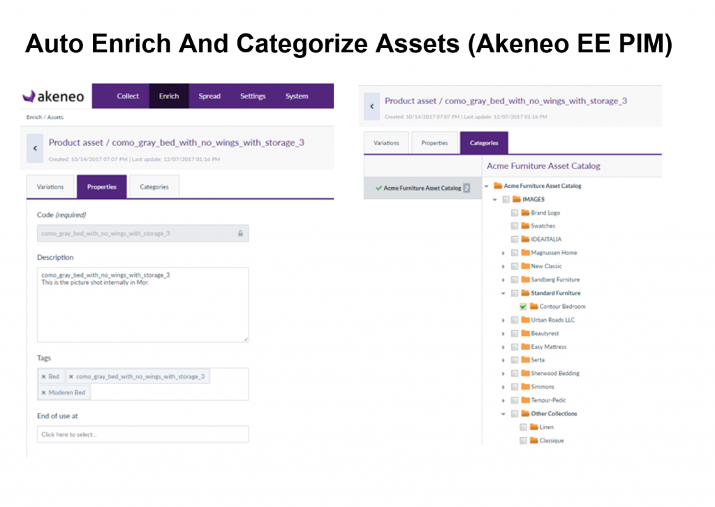 Auto enrich and categorize assets in Akeneo PIM